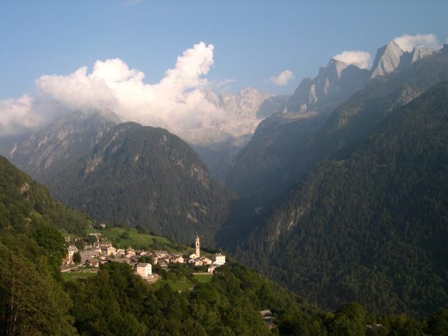 Village of Soglio Hiking in the Swiss Alps - John 6:3And Jesus went up into a mountain, and there he sat with his disciples.